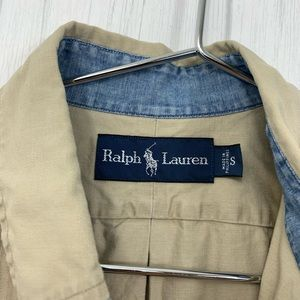 Ralph Lauren Shirts - RALPH LAUREN MENS TAN KHAKI BUTTON FRONT SMALL